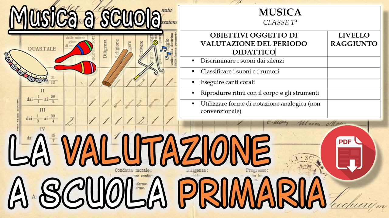 la valutazione di musica a scuola primaria